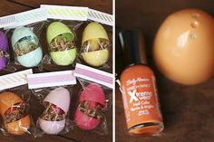 Nail Polish In A Easter Egg of the Same Color. Cute Party Favor