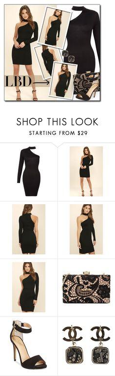 """#531 - Little Black Dress"" by lilmissmegan ❤ liked on Polyvore featuring LULUS, Love Moschino, Thalia Sodi, Chanel, LittleBlackDress and LBD"