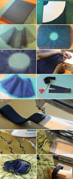 Full Circle Skirt with Tulle -tutorial