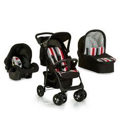 Baby Pram 3 In 1 Set Stroller Car Seat Carrycot Infant Pushchair Travel System