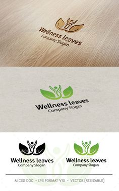 Wellness Leaves - Logo Design Template Vector #logotype Download it here: http://graphicriver.net/item/wellness-leaves-logo/9672983?s_rank=1562?ref=nesto