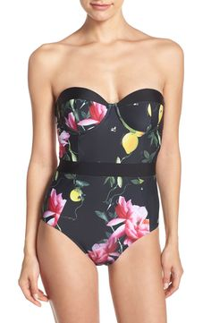 Main Image - Ted Baker London Citrus Bloom One-Piece Swimsuit