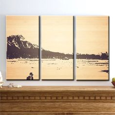 Diamondhead, Honolulu, Oahu, Hawaii, - Triptych
