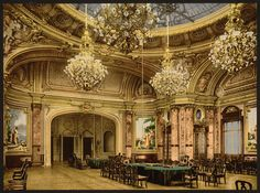I can only imagine how it would have taken my breath away to have entered the Monte Carlo Casino in 1914 --wearing a gorgeous, terribly expensive evening gown, of course, and making my way to the roulette table....(sigh) Need suggestions on what that gown would look like!