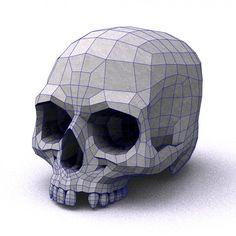 skull low poly - Buscar con Google