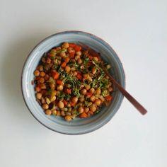 Hora de comer  Garbanzos con verduras (hinojo zanahoria calabacín) Rico  Ricooo