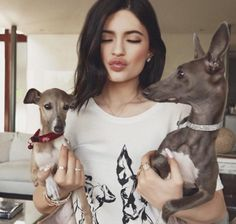 Socialite Kylie Jenner's short list of responsibilities includes tending to her two Italian Greyhound dogs Norman and Bambi who have their own Instagram account @normieandbambijenner. On the day of the America Music Awards in 2016, she had to miss it because her dogs had puppies!  Photo by @normieandbambijenner