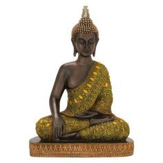 Whether you're a practicing Buddhist or just want an Eastern accent, the DecMode Attractive Buddha Sculpture is the right choice for you. Buddha Wall Art, Buddha Decor, Small Buddha Statue, Fairy Statues, Banner Background Images, Buddha Sculpture, Contemporary Home Decor, Joss And Main, Decorative Objects