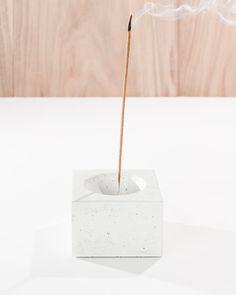 Cubed3 / White Concrete Square Incense Burner/ Incense holder/ Minimalist Home Decor