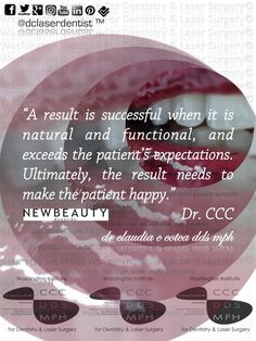 """A #result is #successful when it is #natural and #functional, and exceeds the patient's expectations. Ultimately, the result needs to make the patient #happy."" #Dr.CCC"