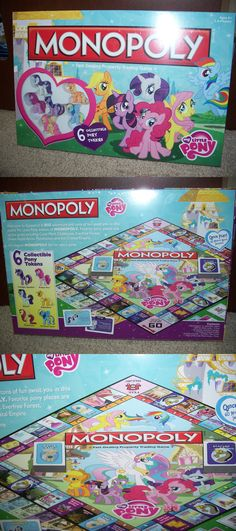 Contemporary Manufacture 180349: New! My Little Pony Monopoly! Collector'S Edition 6 Pony Tokens! -> BUY IT NOW ONLY: $47.99 on eBay!