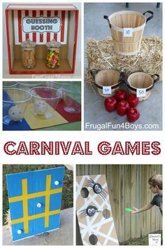 25+ Carnival Games for Kids!  Perfect for a family game night or a church or school carnival.  Great birthday party ideas too!