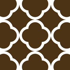 I want to stencil this quatrefoil pattern in kitchen