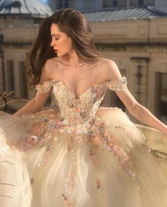 Ball Gowns Fantasy, Ball Gowns Prom, Fantasy Dress, Ball Gown Dresses, Royal Ball Gowns, Princess Ball Gowns, Fantasy Wedding Dresses, Princess Dresses, Colored Wedding Gowns