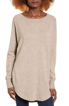 Dreamers by Debut Rounded Drape Hem Pullover available at #Nordstrom | Mocha | small/medium