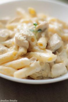 Pasta in a cream cheese sauce – Taste Analysis – Here the taste counts! Cream Cheese Sauce, Penne Pasta, Risotto, Macaroni And Cheese, Spaghetti, Food And Drink, Chicken, Dinner, Vegetables