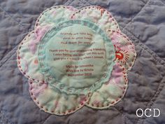 Nicey Jane quilt label by Kristie at OCD, via Flickr