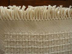 Handwoven Natural Huck Boxes Placemats by BrownDogWeaving on Etsy #handweaversofetsy
