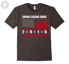 Mens Living Legend Since 2016 T-shirt 1st Kid's Birthday Gifts Large Asphalt - Birthday shirts (*Amazon Partner-Link)