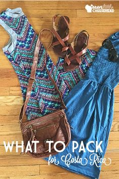Normally, Holly sucks at packing for warm-weather trips. But we think she did a pretty stand-up job with this list for Costa Rica! This time, she packed based on the different activities she knew she'd be doing.
