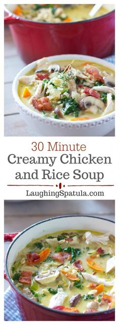 Creamy Chicken and Wild Rice Soup - So easy! Creamy Chicken and Wild Rice Soup - So easy! Creamy Chicken and Wild Rice Soup - So easy! Creamy Chicken And Rice, Chicken And Wild Rice, Wild Rice Soup, Cookbook Recipes, Soup Recipes, Cooking Recipes, Healthy Recipes, Recipies, Sweets Recipes