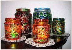 Tatjana Dimitrijevic Candle holder | Hand painted stained glass