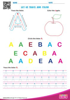 Free for learning letters of by coloring and tracing. Finally connecting the dots to draw the shape of letters in given direction with this printable worksheet. Pre K Worksheets, Alphabet Tracing Worksheets, Alphabet Activities, Printable Worksheets, Dot Letters, Letters For Kids, Learning Letters, Fun Learning, Coloring Letters