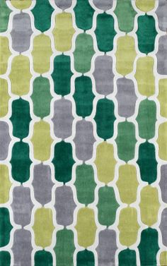 Rugs USA Keno ACR208 Green Rug. 4th of July Sale! Pick from 1 of 2 promotions to save today! area rug, carpet, design, style, home decor, interior, design, pattern, trend, statement, summer, cozy, sale, handmade, sale, discount, free shipping.