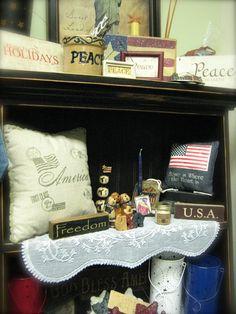 Patriotic country decor (Americana)    Heidi's Cottage, Dunellen NJ heidiscottage.com for more info