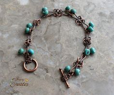 Tracy Creates: Copper Links and Magnesite Bracelet