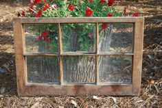 Vintage Antique 6 Pane Wood Window Frame From Old Southern Home