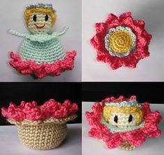 Magical Flower Flip Flop - free crochet pattern