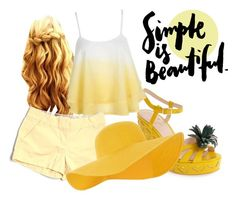"""""""Golden Sunset"""" by lolabug113 ❤ liked on Polyvore featuring Kate Spade, J.Crew and Accessorize"""