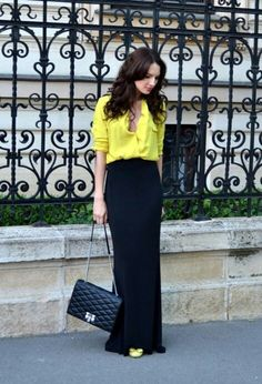 H&M yellow skirt