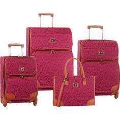 Diane von Furstenberg Hearts Spinner Jacquard 4 Piece Luggage Set - Womens Luggage - Luggage