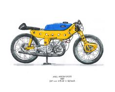 ARIEL ARROW RACER 1961 by pigrise Motorcycle Store, Motorcycle Racers, Motorcycle Posters, Racing Motorcycles, Classic Bikes, Classic Cars, Old Bikes, Vintage Bikes, Road Racing