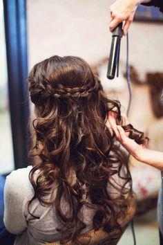 My French Wedding bridal braid long curled hair Masha Bakker Matijevic - Photography