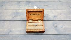 Engagement Ring Box, Proposal Ring Box, Rustic Wedding Ring Holder, Ring Bearer Box, Wedding, Ring, Engagement, Anniversary, Wooden Box
