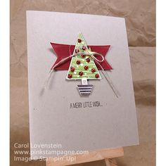 Festival of Trees (2 of 3) Sneak Peek - Holiday Catalog by Carol Lovenstein, www.pinkstampagne.com Stampin' Up! card idea