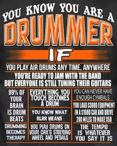 Gammon Percussion Full Size Complete Adult 5 Piece Drum Set with Cymbals Stands Stool and Sticks, Black Music Memes, Music Humor, Drummer Quotes, Drummer Humor, Rock And Roll, Trommler, Kerry King, Drum Music, Drumline