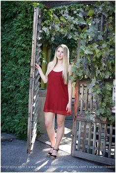 Salt Lake City Utah high school senior photographer with beautiful blonde girl at the studio near trolley square