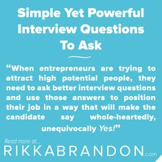 questions to ask entrepreneurs interview