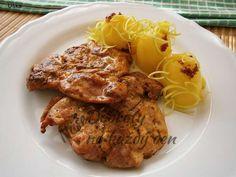 Recept Kuřecí řízky marinované,přírodně osmažené - Naše Dobroty na každý den | Recepty online Tandoori Chicken, Pork, Meat, Ethnic Recipes, Dinner Ideas, Foods, Eten, Cooking, Pork Roulade