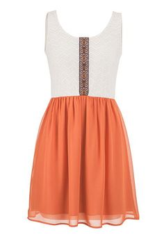 lace and chiffon dress with low cut back (original price, $39) available at #Maurices