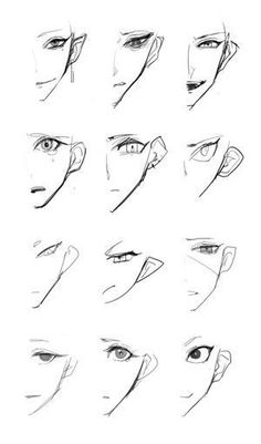 Manga Drawing Techniques – New Ideas – Drawing 2020 Wie Zeichnet Man Manga, Anime Drawings Sketches, Anime Drawing Tutorials, Hipster Drawings, Eye Drawings, Painting Tutorials, Pencil Drawings, Poses References, Drawing Expressions