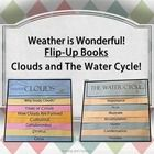 These Weather Flip-Up on Clouds and the Water Cycle are so much fun to use in the classroom, and look VERY IMPRESSIVE when on display! They are so easy to make! Just print, line up the pages, fold, and staple. No other preparation is required! After a quick tutorial, my students assemble them on their own.
