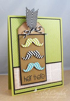 Paper Issues: Mustache Envy {Die Cutting with Washi Tape}