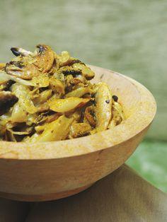 Recette Poêlée d endives et champignons au curry et paprika