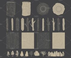 Lumbergrains Hand Drawn Rustic Pack by Seaquint on @creativemarket