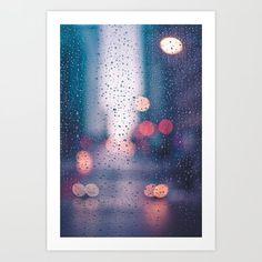 Rain Art Print by earthyhumanstuff Bts Drawings, Cool Art Drawings, Rain Art, Water Art, Diy Canvas Art, Art Therapy, Beautiful Paintings, Shiva, Tangled